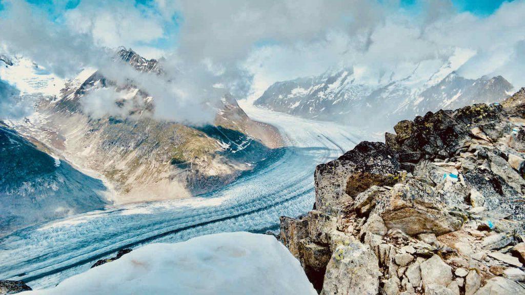 Aletsch Glacier View
