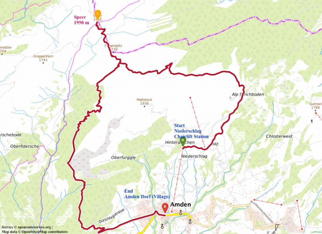 Speer_Zurich Hikes_Map