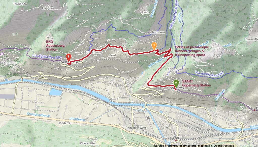 Baltschiederthal_Hiking_Valais_Wallis_Map