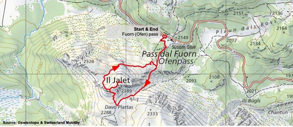 Il Jalet Route Map