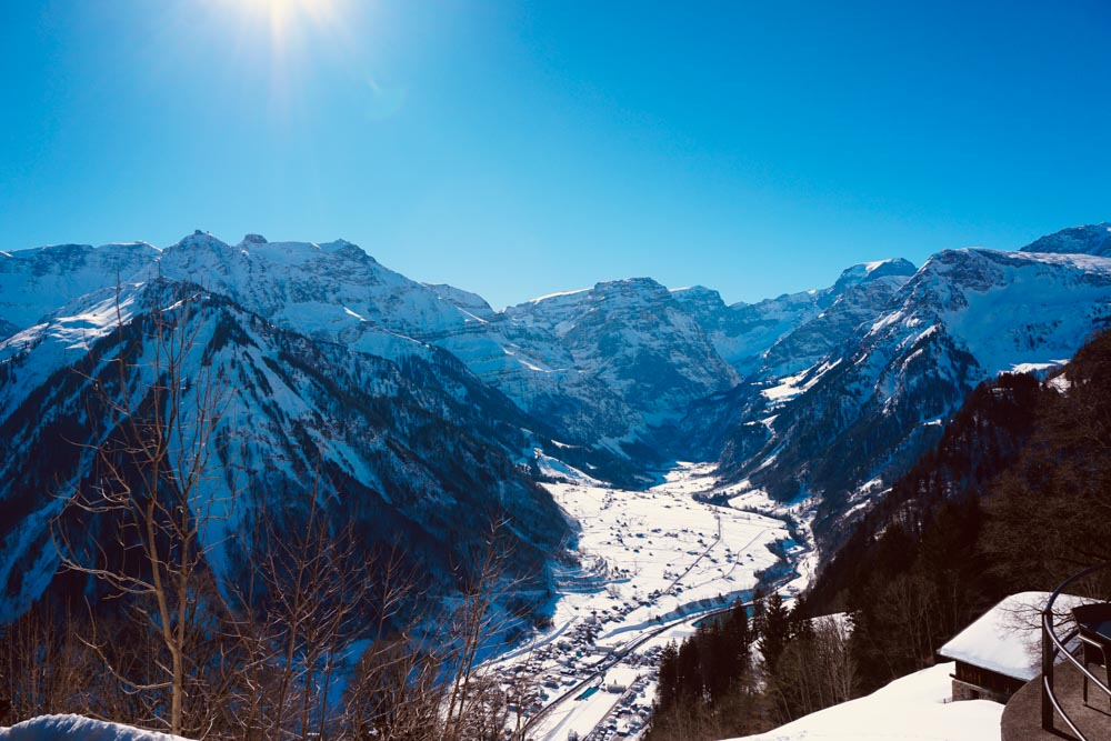 Winter in Braunwald – Hiking Up and Sledging Down