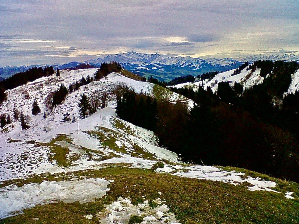 Hiking highest peak Zurich Schnebelhorn